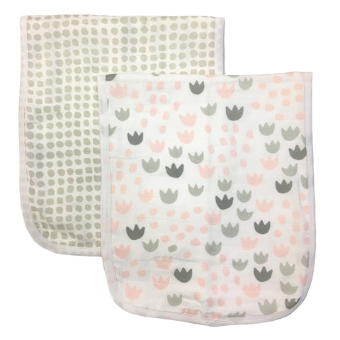 Meadow Blush Burp - Set Of 2