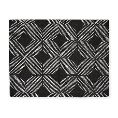 Manila Black & White Placemat - Set Of 4