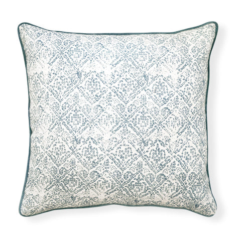 Allegra Storm Blue Linen Cushion