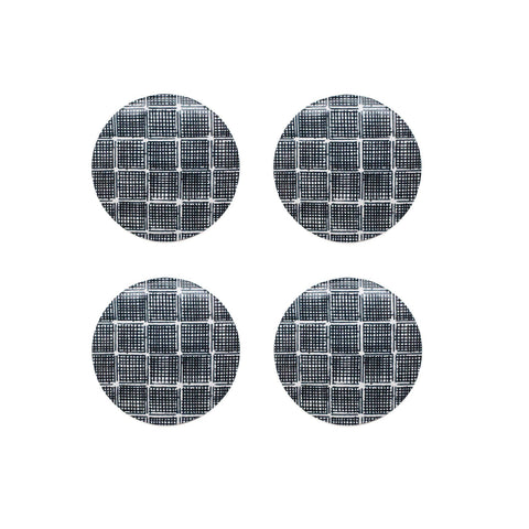 Kinfolk Charcoal Round Coaster - Set Of 4