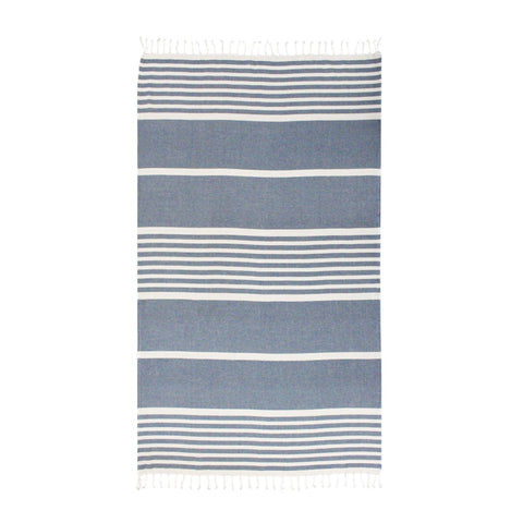 Sorrento Indigo Beach Towel