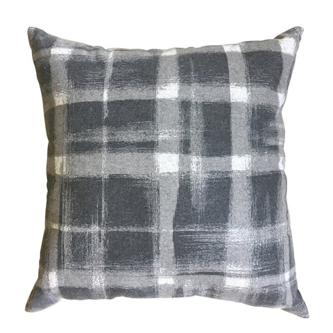 Brushed Check Charcoal Cushion