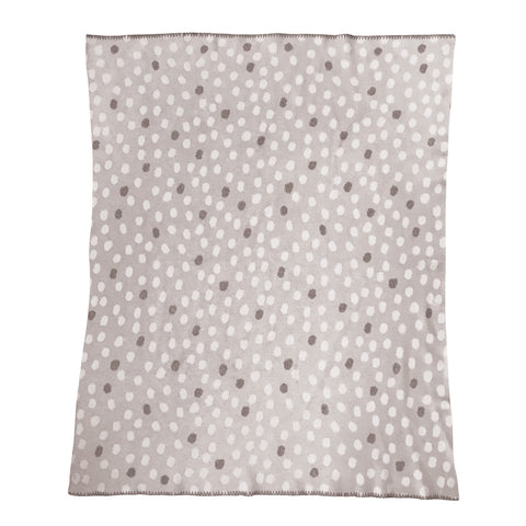 Freckle Grey Baby Throw 80x100cm