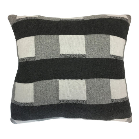 Check Charcoal Cushion