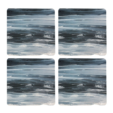 Waves Square Coaster - Set of 4