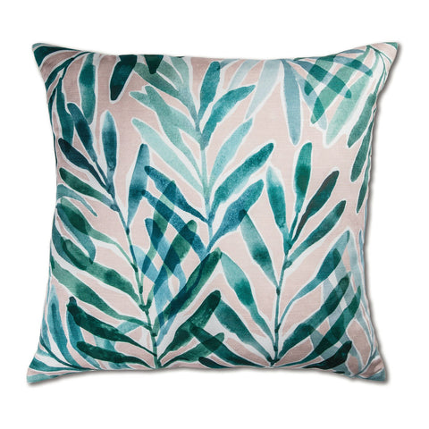 Palm Springs Blush/Turquoise Cushion