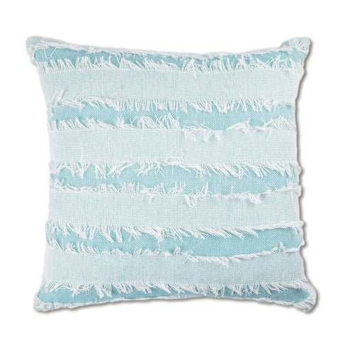 Cairns Fringe Cushion - Aqua