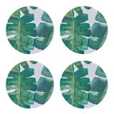 Banana Leaf Round Coaster - Set of 4