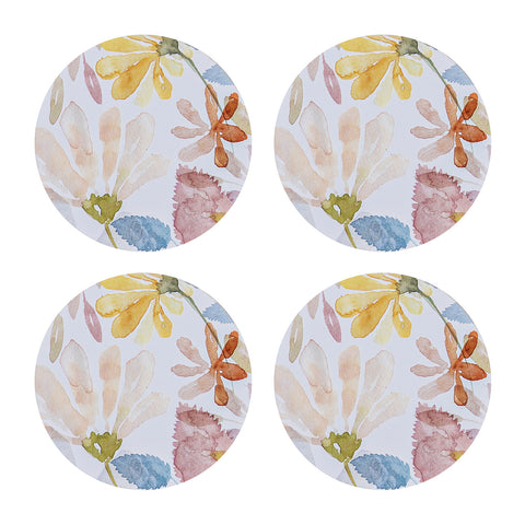 Windflowers Round Coasters - Set of 4