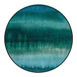 Gradient Forest Round Canvas