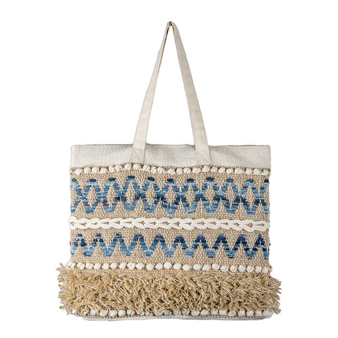 Finley Denim/Jute Beach Bag