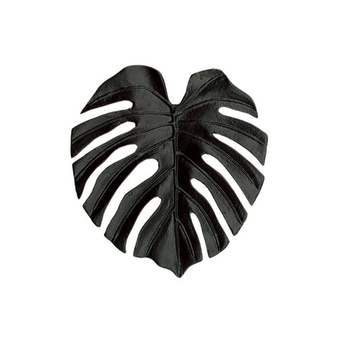 Monstera Leaf Black Ornament Dish
