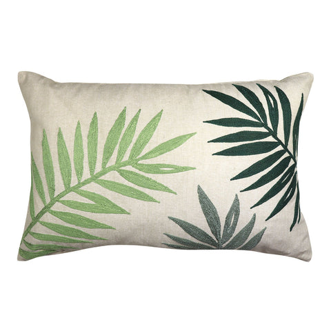 Palms Embroidered Cushion
