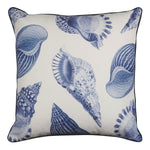 Atlantic White/Indigo Cushion