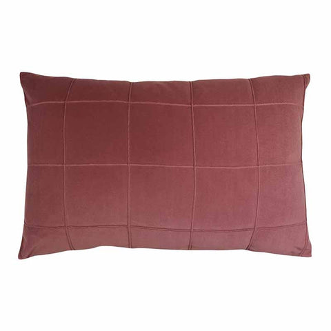 Seattle Velvet Lumbar Cushion - Shiraz