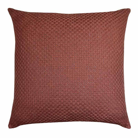 Marlo Rosewood Textured Woven Cushion