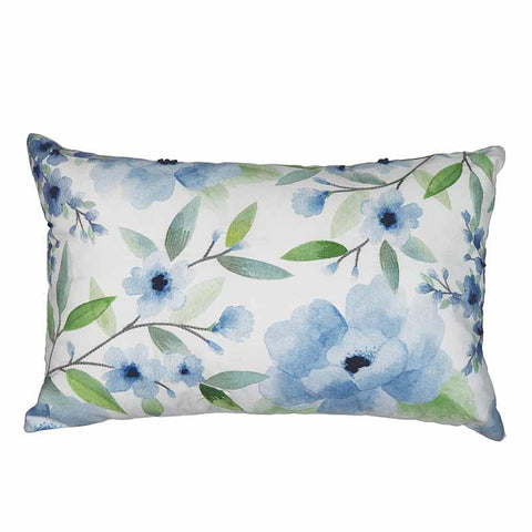 Chinoiserie Blue/Green Lumbar Cushion