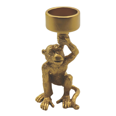 Standing Monkey Tealight Holder