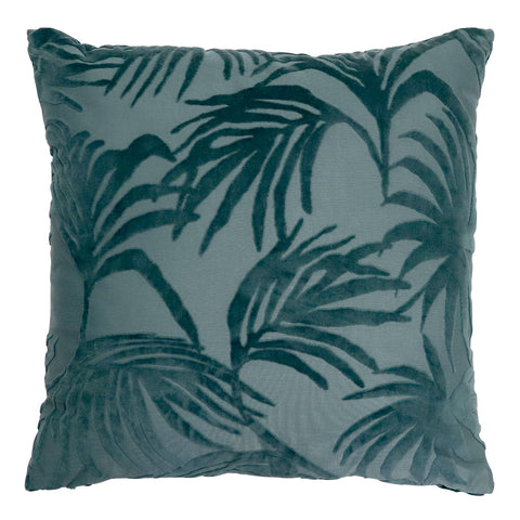 Palm Jacquard Cushion - Green