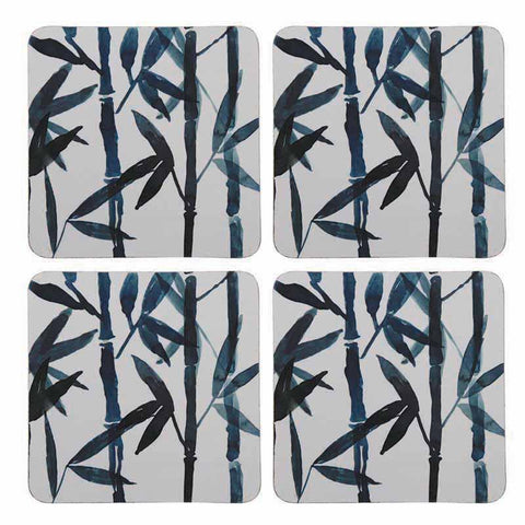 Bamboo Square Coasters - Set of 4