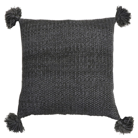 Wesley Knitted Cushion - Grey