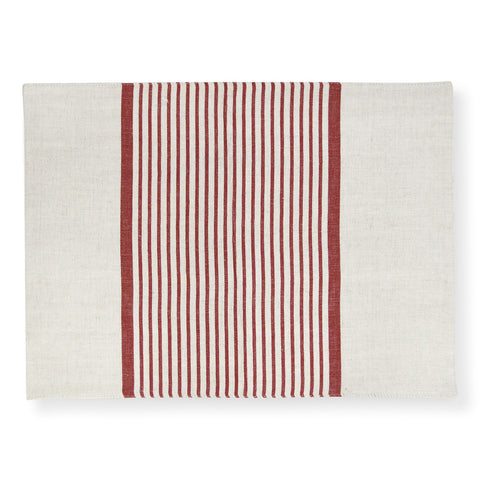 Clary Stripe Clay Placemat - Set of 4