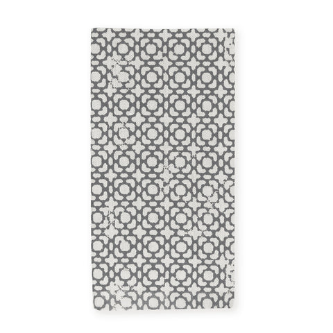 Adelaide Block Print Charcoal Napkin - Set of 4