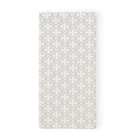 Eden Block Print Soft Grey Napkin - Set of 4