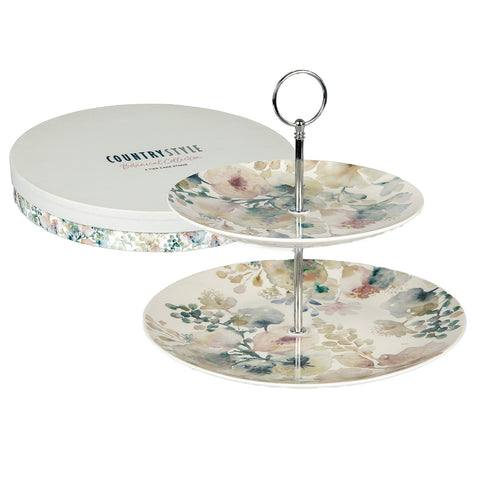 Pansy 2-Tier Cake Stand