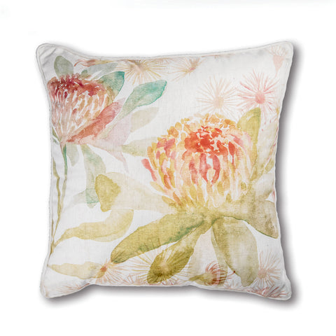 Summer Garden Cushion - Rust/Green