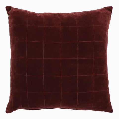 Selby Red Velvet Cushion
