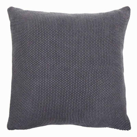 Parker Dark Grey Knitted Cushion