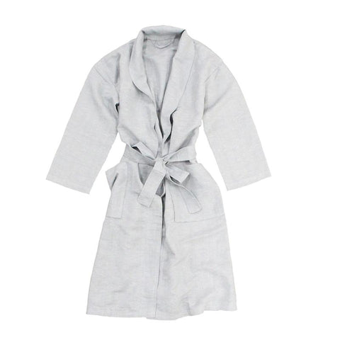 South Hampton Linen Bath Robe - Glacier