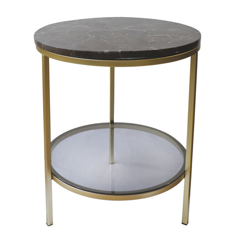 Parkville Round Brown Marble Table