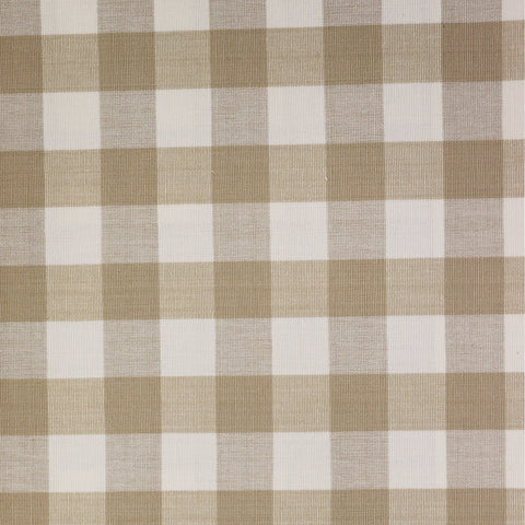 Calcutta Check Fabric - Café Au Lait