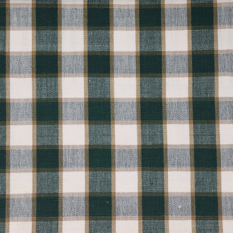 Hooghly Double Check Fabric - Forest