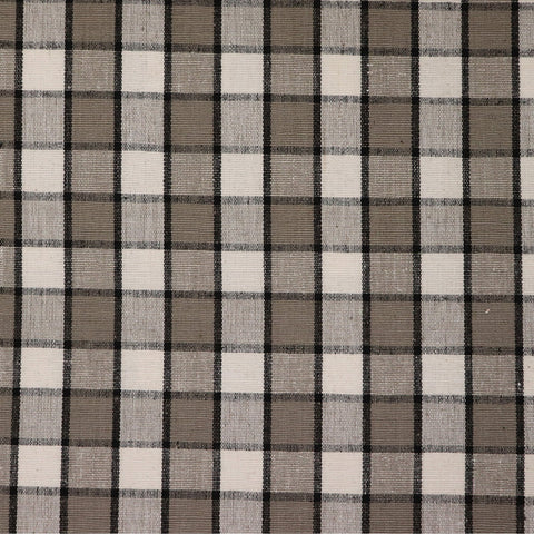 Hoogly Double Check Fabric - Café / Black