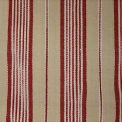 Madurai Stripe Fabric - Red