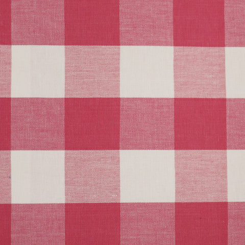 Patna Large Check Fabric - Pink