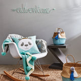 Panda Light Blue Cushion