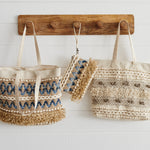 Finley Denim/Jute Small Clutch