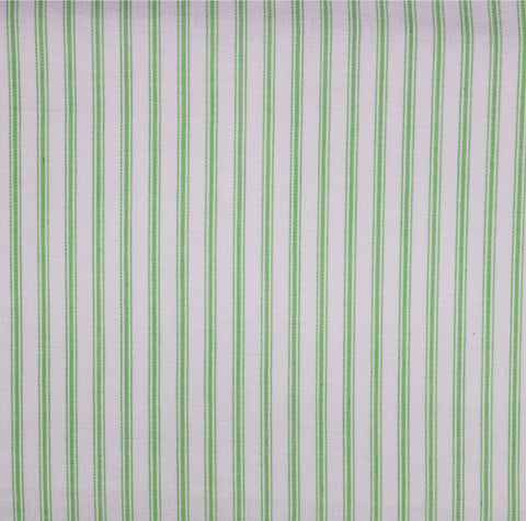 Ticking Stripe Fabric - Apple Green