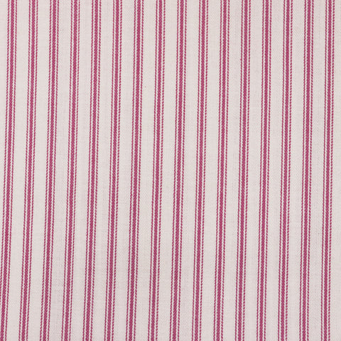Ticking Stripe Fabric - Pink
