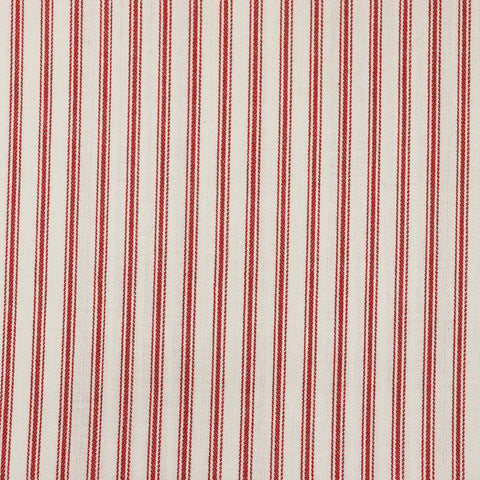 Ticking Stripe Fabric - Red