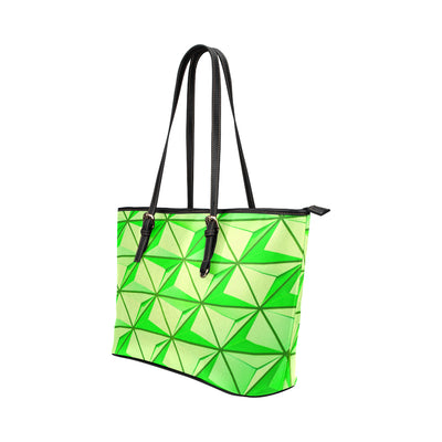 Crystal Mini Tote in Black Leather w/ Limelight