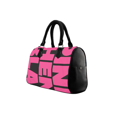 PITNB™ Signature Print Carrie On Handbag in Black w/ Blushing Rose