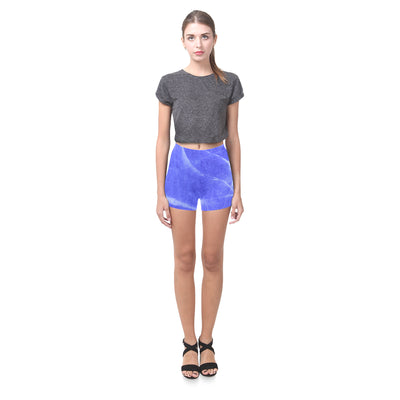 Gemstone Push Legging Shorts in Lapis Lazuli Swirl