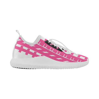 Vigalent™ Micro Print Bolt Trainer in White w/ Blushing Rose