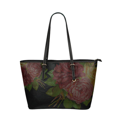 Petal to the Metal™ Mini Tote in Black Leather w/ Florals