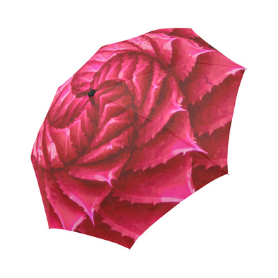 Agave Automatic Folding Umbrella in Rose